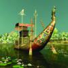 Sfeerbeeld van een Aziatisch schip