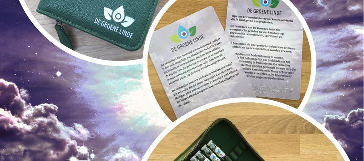 Groen Etui met 44 testbuisjes van de remedies van de Groene Linde
