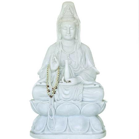 Kwan Yin: vrouwelijke tegenhanger van de Lord St Germain olie. De geur is kruidig en verfijnd. Zij helpt je om karma los te laten door genade en vergeving.