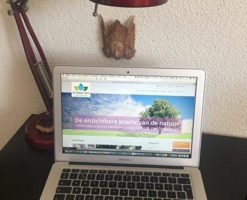 De nieuwe website van de Groene Linde een maand na start. Voldoende gebruikstips