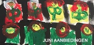 De juni banner van Thijmen voor de aanbiedingen van de Groene Linde