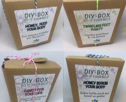 Vier unieke Do It Yourself boxen om thuis te maken of cadeau te doen.