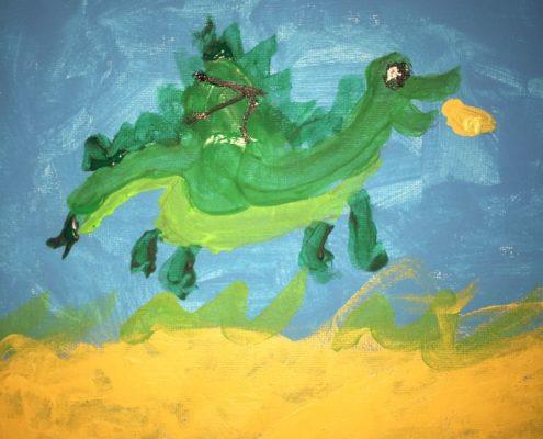 De Groene Draak, geschilderd door Thijmen Geurts