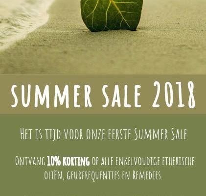 Summer Sale 2018 bij de Groene Linde, niet geldig in combinatie met lopende aanbiedingen, testkits, workshops en trainingen